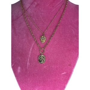 GOLD LAYERED LION CHAIN NECKLACE